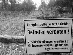 Kampfmittelbelastetes Gebiet, Sperrzone Königsbrücker Heide