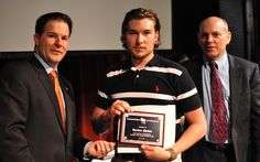 Brenden Meehan, accepting his '4-Year Perfect Attendance Award' at ABC's Apprenticeship Graduation