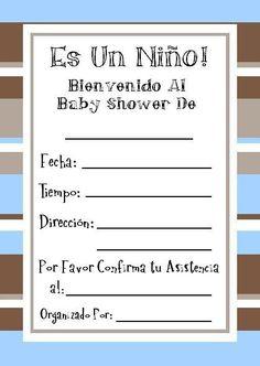 Tarjetas gratis Baby Shower para imprimir 6