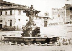Piazza della Bocca della Verità (1865 ca) Bucharest, Romans, Old Photos, Statue Of Liberty, Fountain, World, City, Travel, Memories