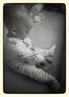Montessori infant room...Object permanence...littleorchardmontessorischool.com
