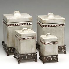Kitchen Canister Showrooms Ma 91 Best Cannisters Images Sets Jars Ceramic Canisters Tuscany Bread Boxes Essentials