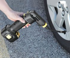 Automatic Cordless Tire Inflator | DudeIWantThat.com