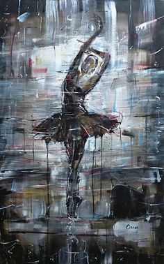 """Saatchi Art Artist OSCAR ALVAREZ; Painting, """"Sueños de bailarina-6"""" #art"""