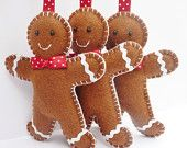 gingerbread men felties that look good enough to eat..