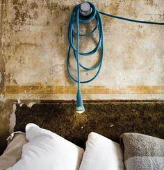 Knitted Blue Angora Matt Lamp 3800CNY  (456€) #bleu #laine #industriel
