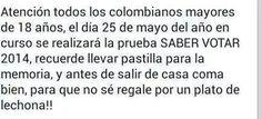 Elecciones Colombia Mayo 25 de 2014