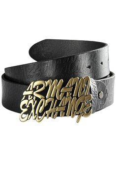 Mens Designer Clothes | ARMANI EXCHANGE Mens Leather Belt #10