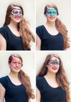DIY Tulle & Fabric Paint Mask Templates | Sprinkles in Springs