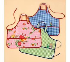 Oilcloth smock for easy cleanup after playing with paints :-)