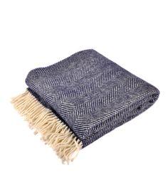 Joanna Wood Navy Wool Throw  #wool #woolcampaign #throw #blanket #cosy