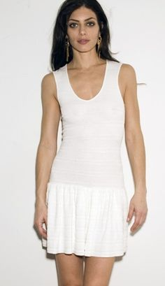 Jessie - A Fashion Boutique - Torn by Ronny Kobo Laurie Dress Pointelle - White, $231.00 (http://www.jessieboutique.com/products/torn-by-ronny-kobo-laurie-dress-pointelle-white.html)