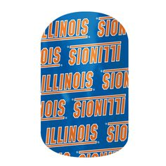 University of Illinois nail wraps by Jamberry available at www.tiffani.jamberrynails.net