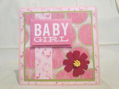 Baby shower card Baby girl by JessieAndMarieCards on Etsy www.etsy.com/shop/jessieandmarie