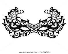 Lace Masquerade Mask Template Printable