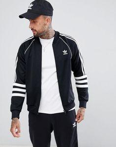 718f0c3d5e33a4 adidas Originals Authentic Superstar Track Jacket In Black