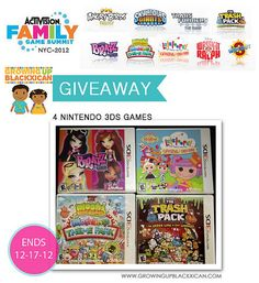 I just entered to win FOUR #atvifamgames Nintendo 3DS games #GrowinBlkxican