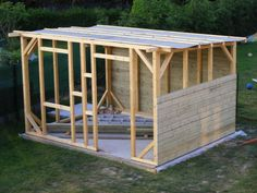 Planning To Build A Shed? Now You Can Build ANY Shed In A Weekend Even If You've Zero Woodworking Experience! Start building amazing sheds the easier way with a collection of shed plans! Garden Huts, Storage Shed Kits, Backyard Office, Diy Shed Plans, Bike Shed, Wooden Sheds, Garden Studio, Building A Shed, Outdoor Structures