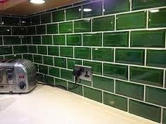 victorian green tiles for the kitchen