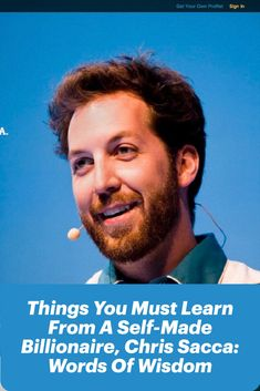An American venture investor, lawyer, entrepreneur, and company adviser, Chris Sacca is the brilliant seed investor, his methods, and ideologies are still regarded in the tech industry. #ChrisSacca #investment #WordsOfWisdom #seedinvester #startup #SelfMadeBillionaire #entrepreneur #entrepreneurs #entrepreneurship #insighttrending Business Mission, Business Goals, Start Up Business, Business News, Business Planning, Competitor Analysis, You Must, Billionaire, Lawyer