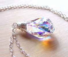 I love swarovski! This etsy seller (JBMDesigns) makes beautiful, high-quality sterling siver jewelry.