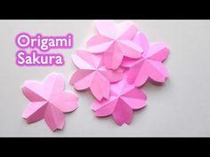 Origami Sakura Flower - Cherry Blossom / 折り紙 桜(サクラ) 切り方 作り方 - YouTube