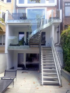 Best Impressive Metal Pan Stairs Porches Pinterest Steel Stairs Concrete Stairs And Stair Treads 640 x 480