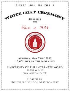 White Coat Ceremony | Pharmacy | Pinterest | Coats White coats