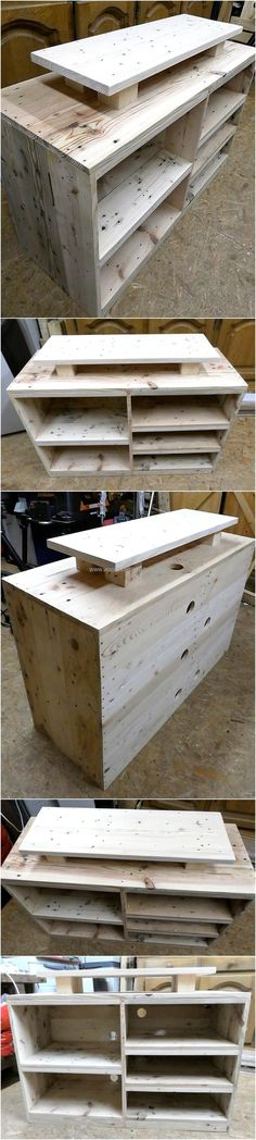 Change your dull and boring environment with new and fresh furniture made with reused wood pallets. Engage yourself in your leisure time to craft alluring and creative projects for your use. The creation of wood pallet TV stand is one of another amazing and wonderful project to recuse your retired wood pallets into useful craft.