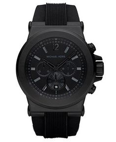 347eafc72c880 Michael Kors Men s Dylan Black Silicone Strap Watch 45mm MK8152 Jewelry    Watches - Watches - Macy s