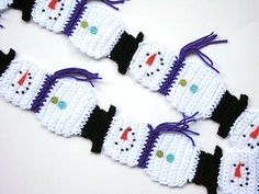 This snowman scarf is great for young and old. One of my best selling scarf patterns.