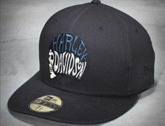 timeless design fc942 42b4a Skull Helmet 59Fifty Fitted Baseball Cap By HARLEY-DAVIDSON x NEW ERA