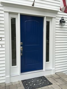 Love my new door and new color! Benjamin Moore Grand Entrance Wild Blueberry!