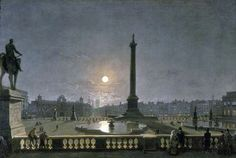 Northumberland House & Whitehall from the North Side of Trafalgar Square, by Moonlight: by Henry Pether. Museum quality art prints with a selection of frame and size options, and canvases. Museum of London Trafalgar Square, Old London, London Art, Nocturne, Moonlight Painting, Fallen London, London Museums, Houses Of Parliament, Dreams