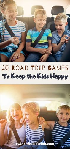 Twin Cities Kids Club Blogs: 20 Road Trip Games to Keep the Kids Happy - Road trips are not for everyone, especially people who have kids. Road trips mean planning, and that's not always easy to do. You end up spending 14 hours just getting ready for a 4-hour journey. At the same time, a well-planned headstart makes the trip eight times easier in the long-run. | Road Trips | Family Road Trips | Road Trip Game | Kids Game | Kids Fun | Family Fun Activities For 2 Year Olds, Indoor Activities, Infant Activities, Kids Fun, Games For Kids, Cool Kids, Family Road Trips, Family Travel, Road Trip Games