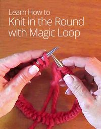 Learn how to knit in the round, which will help you to knit hats, socks, and anything that requires a joined round. Wynn Knit shows you how! Magic Loop Knitting, Knitting Help, Arm Knitting, Knitting Stitches, Knitting Socks, Knitting Patterns, Knit Hats, Crochet Patterns, Knit Or Crochet