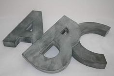 These beautiful zinc coated letters are 21cm high, 14cm wide, and 3cm thick (dimesions vary depending on the letter). Create whole words, or simply use them as an initial. There are preset holes in the back for easy wall mounting.