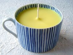 Candele nelle tazzine da caffè, o da tè, una bella idea per la festa della donna!