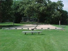 Bocce court at Fearrington Village, Pittsboro, NC