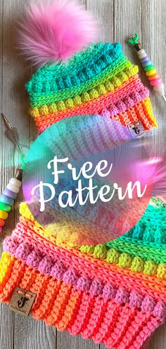 3Crochet Pattern Bubblegum Pop Hat #hatcrochet