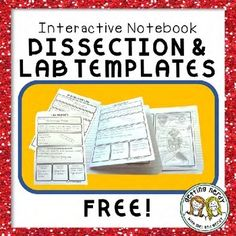 Interactive Science Notebook Lab and Dissection Templates {FREE}