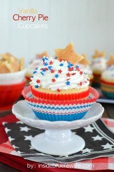Vanilla Cherry Pie Cupcakes Recipe