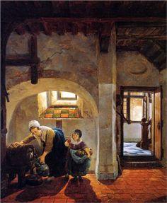 Woman+and+child+in+basement++-+Abraham+van+Strij