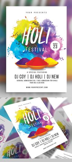 Modern Beach party flyer designs are ready to use. Party flyer designs are used for nightclub party, customise the PSD Beach party flyer design template Graphic Design Brochure, Graphic Design Fonts, Graphic Design Pattern, Business Flyer Templates, Flyer Design Templates, Beauty Flyer Ideas, Holi Poster, Websites Like Etsy, Festival Flyer
