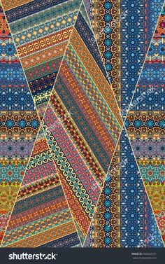 Colorful Vintage Seamless Pattern With Floral And Mandala Elements.Hand Drawn Background. Can Be Used For Fabric, Wallpaper, Tile, Wrapping, Covers And Carpet. Islam, Arabic, Indian, Ottoman Motifs. Стоковая векторная иллюстрация 545032231 : Shutterstock