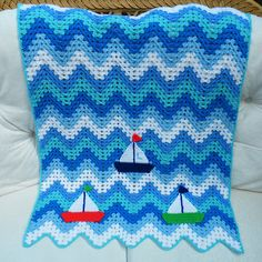 Ravelry: Maryfairy's Sailing Boat Granny Ripple Blanket for Lewis