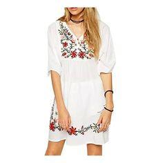 Besticktes Blusenkleid für Sommer