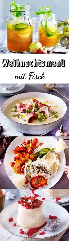 Dieses Weihnachtsmenü mit Fisch ist wirklich rund: Aperitif, Vorspeise, Hauptgang und Dessert passen prima zusammen und machen Weihnachten zum Erlebnis.