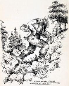 Robert Crumb Unpublished Whiteman Meets Bigfoot Illustration Original Art Robert Crumb's classic - Available at 2014 February 20 - 22 Vintage. Robert Crumb, Fritz The Cat, Alternative Comics, Jean Giraud, Frank Frazetta, Wow Art, Psychedelic, Comic Art, Original Art
