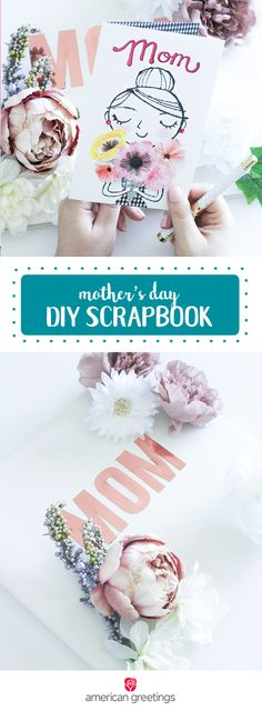 With Mother's Day right around the corner, now is the perfect time to create a homemade DIY Scrapbook and wrap it up with a sentimental greeting card. To create this gorgeous and memorable floral scrapbook, all you need is a plain photo album, faux flowers, fabric glue, and letter stickers. Find everything you need to make this present at Target, you're sure to make your mom's day truly special!